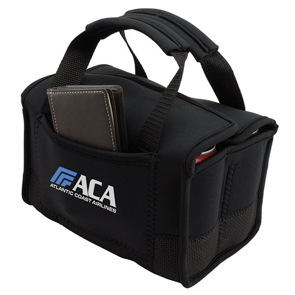 Promotional Black / Charcoal Neoprene 6 Can Tote