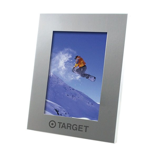 Promotional Sweet Memories(TM) Brushed Silver Photo Frame 5x7