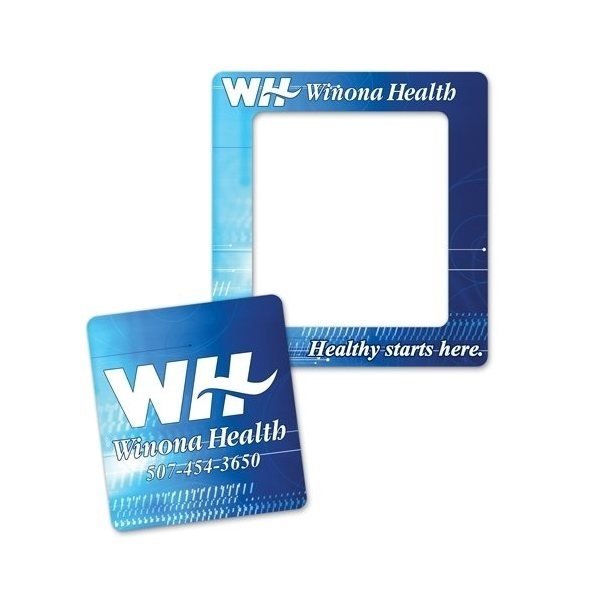 Promotional Full Color Magnet Frame - Rectangle 3.5 x 3.75 2 in 1 Rectangle