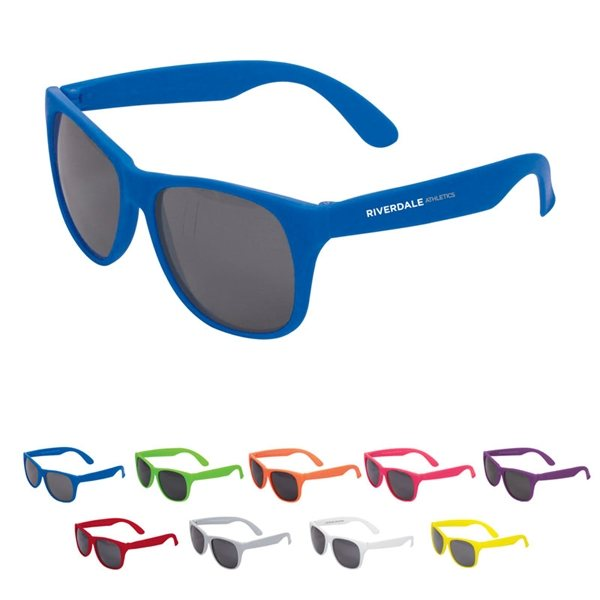 Promotional Single Tone Matte Plastic Sunglasses