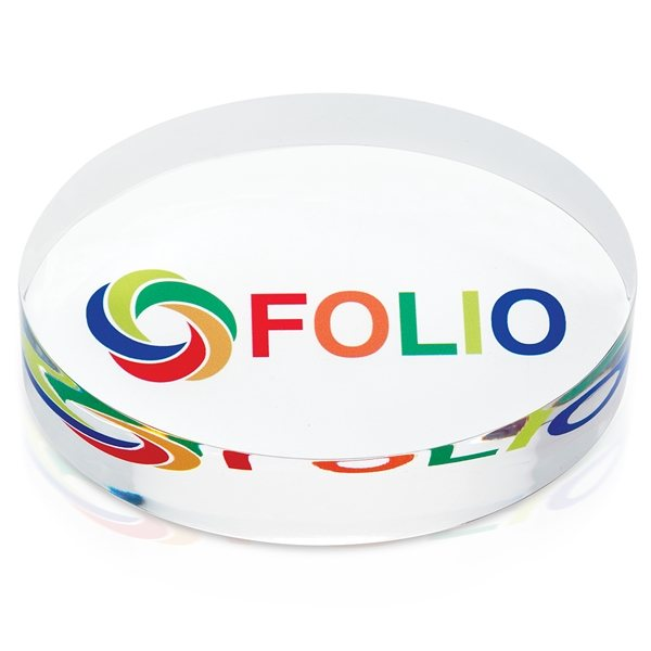 Promotional Oval Acrylic Paperweight