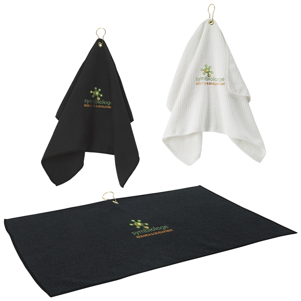 Promotional Polyester Microfiber Golf Waffle Towel