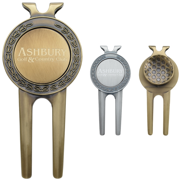 Promotional Honor Magnetic Divot Repair Tool with Ball Marker