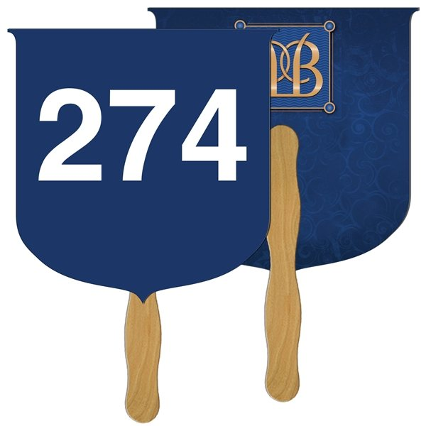 Promotional Coat of Arms Digital Auction Fan - Paper Products