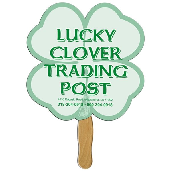 Promotional Clover Digital Auction Fan - Paper Products