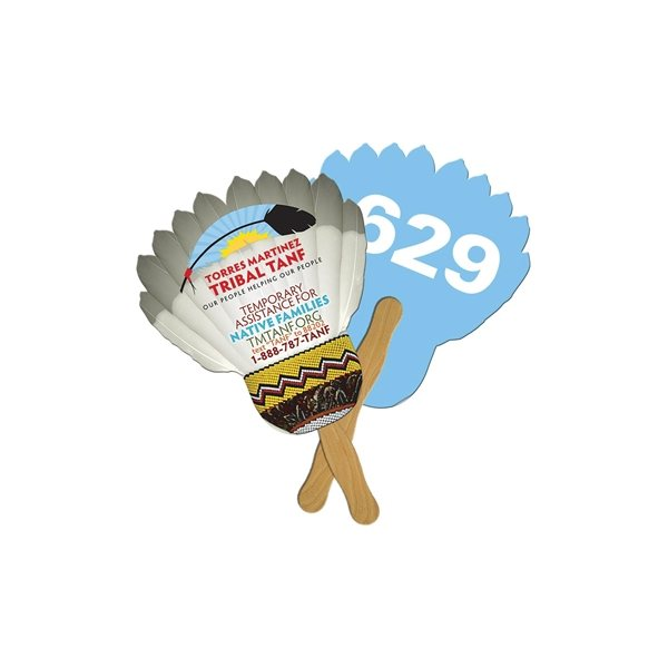 Promotional Feather Digital Auction Fan - Paper Products