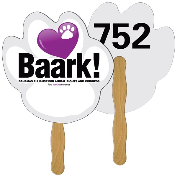 Promotional Paw Digital Auction Fan - Paper Products