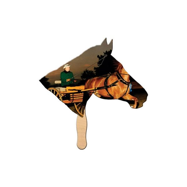 Promotional Horse Digital Auction Fan - Paper Products