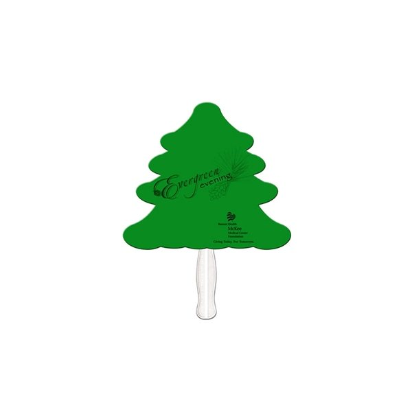 Promotional Evergreen Digital Auction Fan - Paper Products