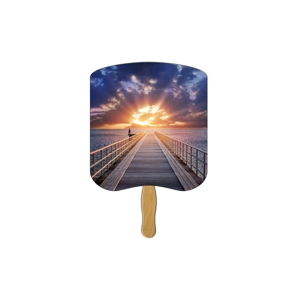 Promotional Sunrise Religious Stock Fan - Paper Products