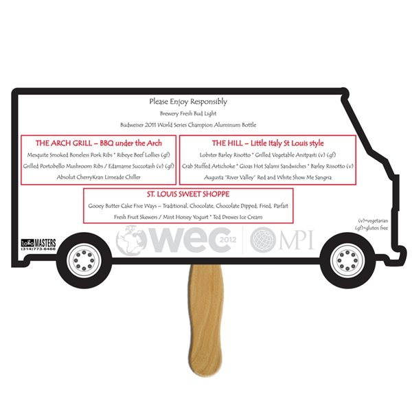 Promotional Truck Sandwiched Fan - Paper Products