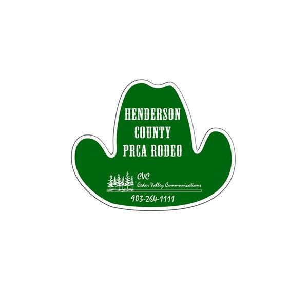 Promotional Cowboy Hat Window Sign - Paper Products