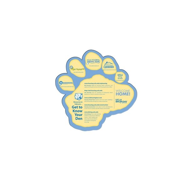 Promotional Paw Window Sign - Paper Products