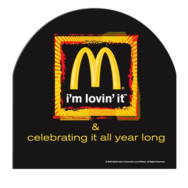 Promotional Half Moon Window Sign - Paper Products
