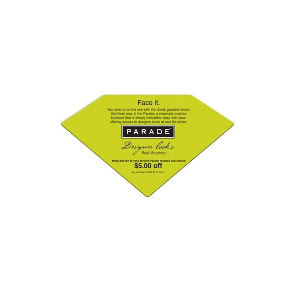 Promotional Diamond Window Sign - Paper Products