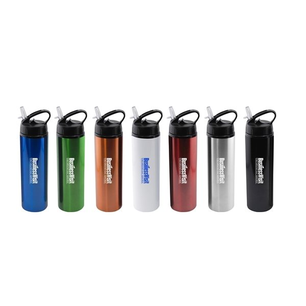 Promotional 24 oz Water Bottle with Flip Top Sport Lid