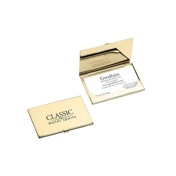 Promotional Goodfaire Business Cardholder Gold