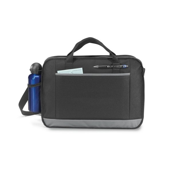 Promotional Ovation Portfolio Messenger Bag - Black