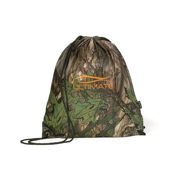 Promotional 210D Polyester Big Buck Cinchpack 13.75 L x 16 H