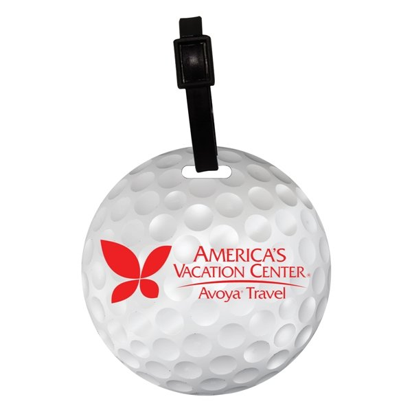 Promotional Recycled Mini Golf Ball Luggage Tag