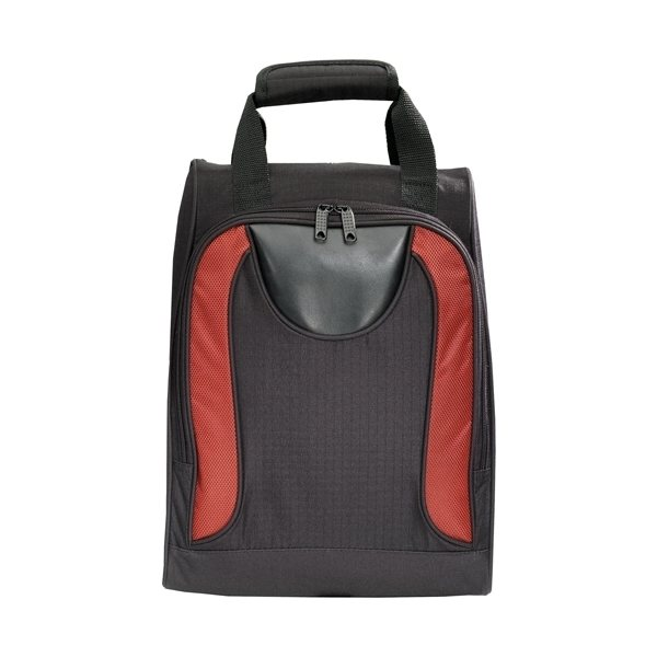 Promotional Matrix Shoe Bag with Zippered compartment