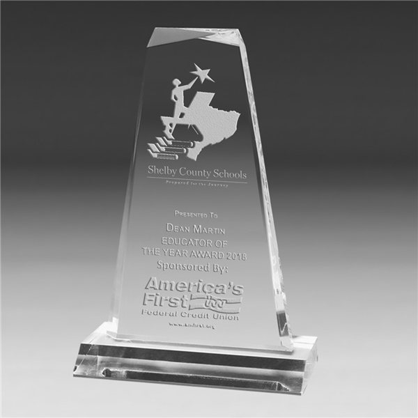 Promotional Multi - Faceted Acrylic Award - 7 1/4