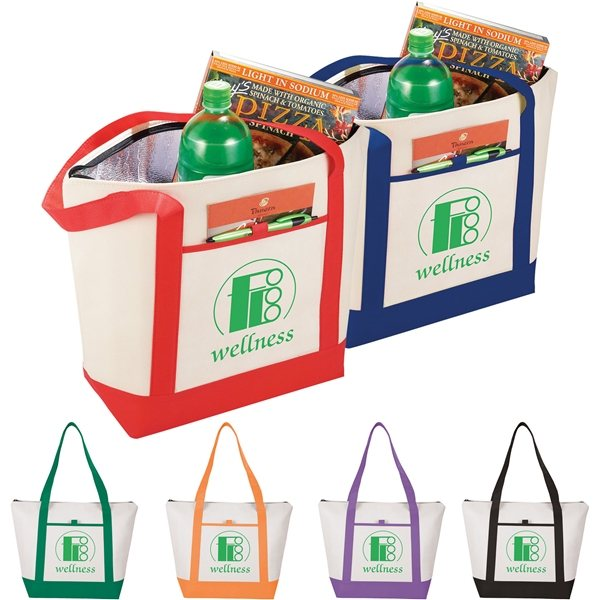 Promotional Lighthouse 24- Can Non - Woven Tote Cooler