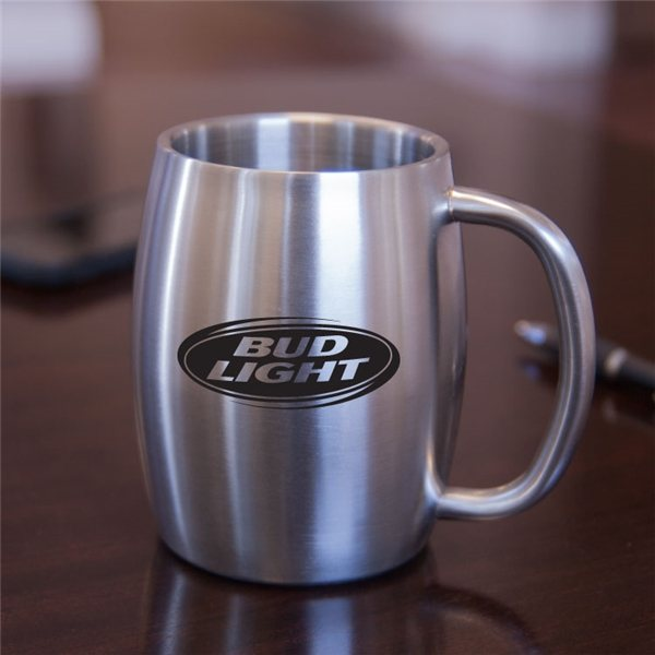 Promotional Brussels 14 oz Stainless Steel Beer Mug