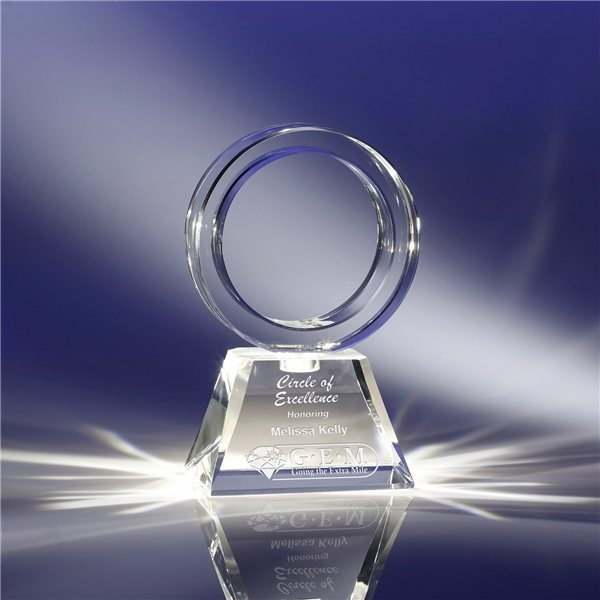 Promotional Clearaward Optical Crystal Revolver Award - 4x7x2 in