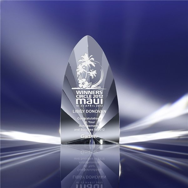 Promotional Clearaward Prism Crystal Award - 4.25 x 8 x 3.13 in