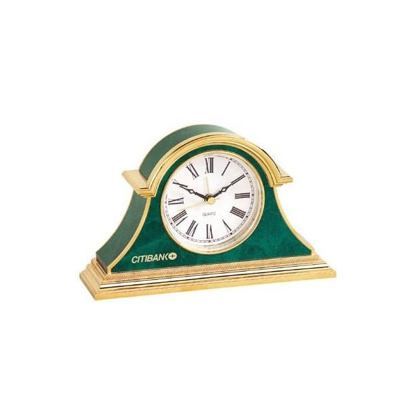 Promotional Green Marble Clock