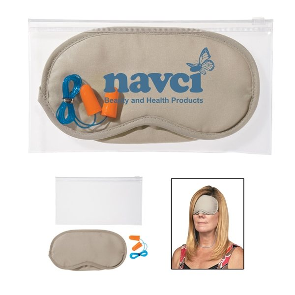 Promotional Ear Plugs And Eye Mask Set