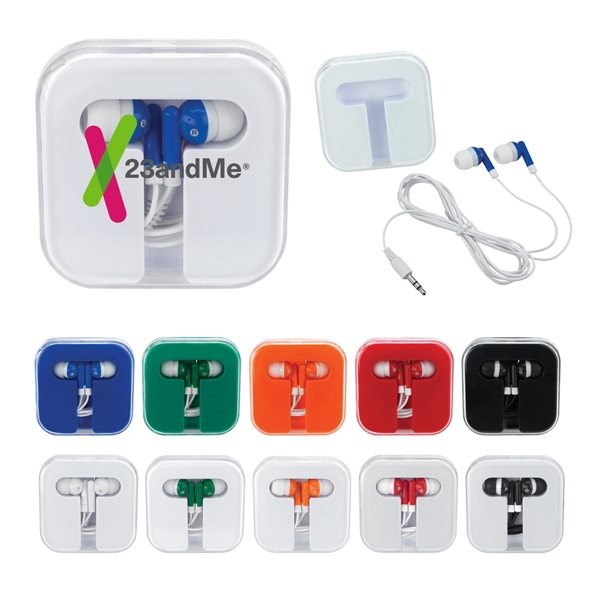 Promotional Ear Buds In Compact Case