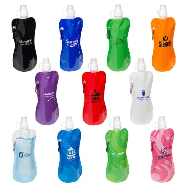 Promotional Flex 16 oz Water Bottle With Carabiner