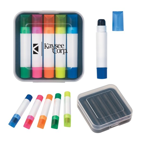 Promotional Set Of 5 Wax Highlighters