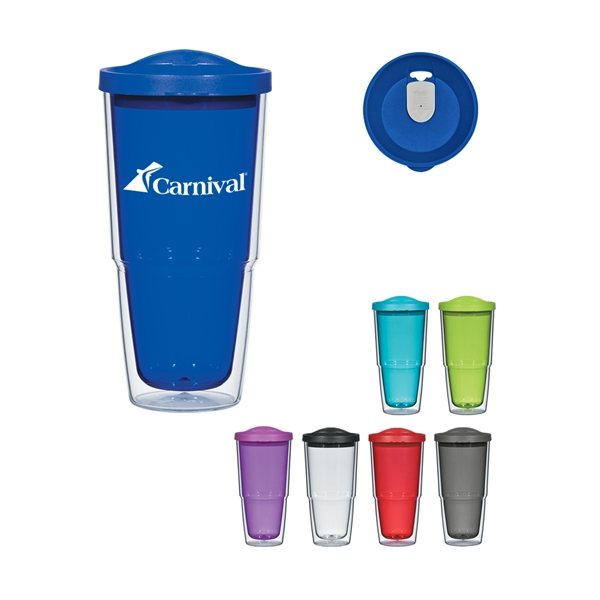 Promotional 24 oz Biggie Tumbler With Lid