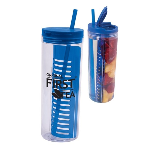 Promotional 20 oz Fruit Infusion Straw Tumbler