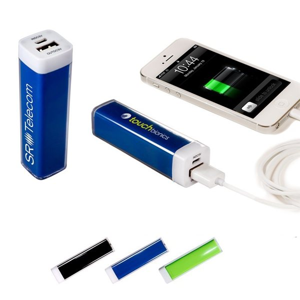 Promotional Econo Mobile Charging Powerbank In Black, Blue, Or White