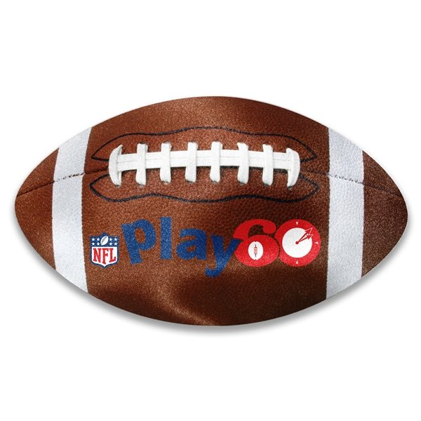 Promotional Football Shaped Microfiber Cleaning Cloth