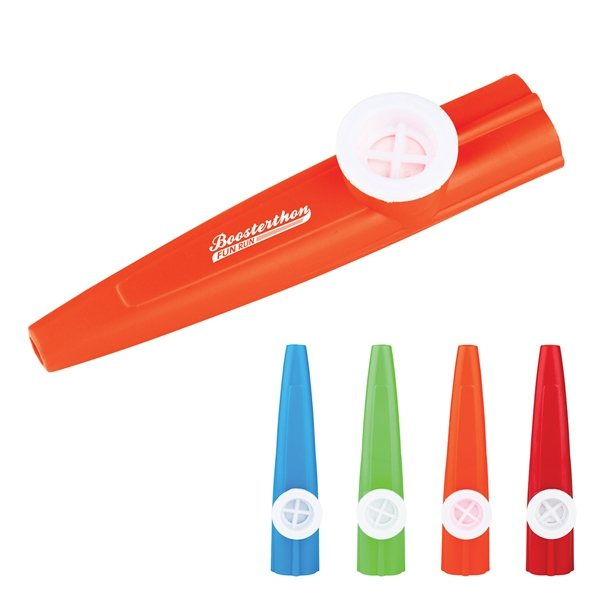 Promotional Screen Printed Plastic Kazoo Whistle