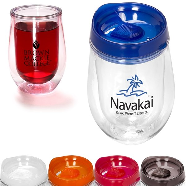 Promotional 10 oz Double - Wall Sippy Tumbler