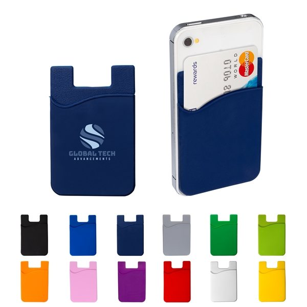 Silicone Cellphone Pocket Card Holder / Wallet