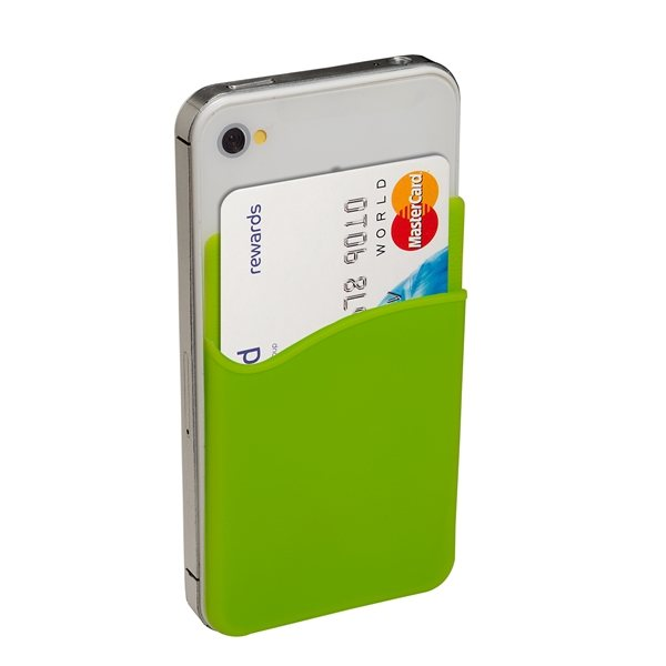 Promotional Silicone Cellphone Pocket Card Holder / Wallet