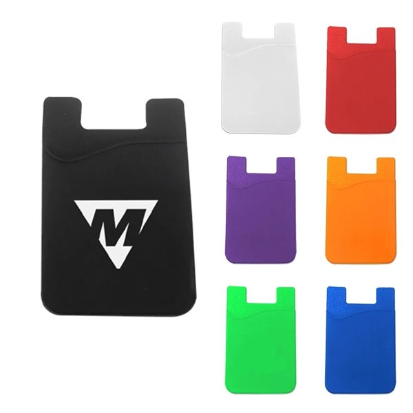 Promotional Roadrunner Silicone Cling Cell / Smart Phone Wallet