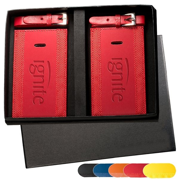 Promotional Majestic(TM) Two Luggage Tag Set