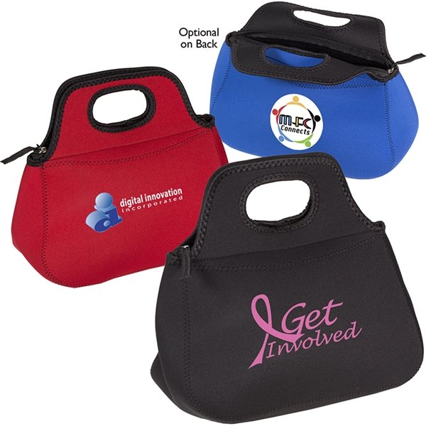 Promotional Zippered Neoprene Lunch Tote