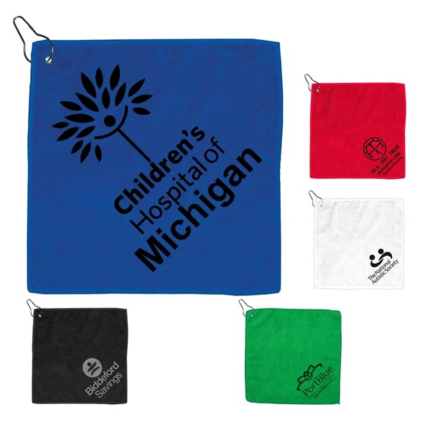 Promotional Microfiber Golf Towel