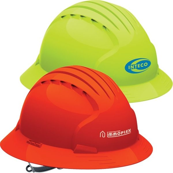 Promotional Evolution 6141 Full Brim Hi - Vis Hard Hat
