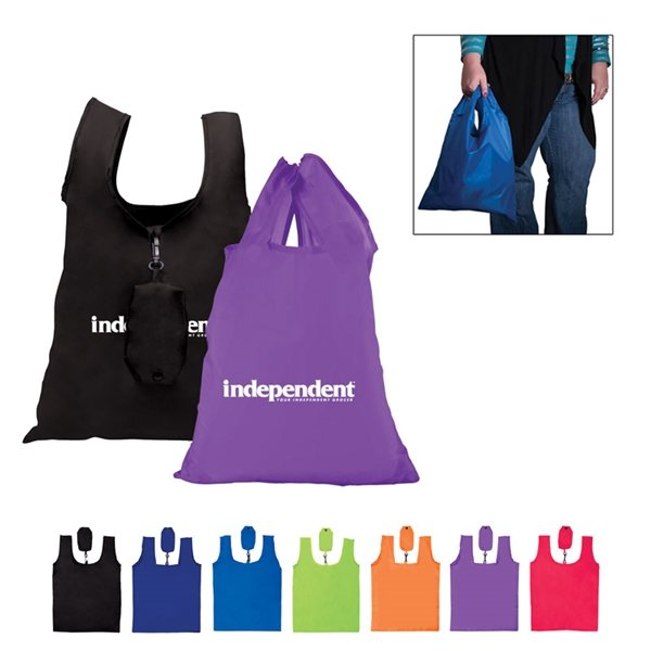 Promotional Polyester Folding Grocery Tote