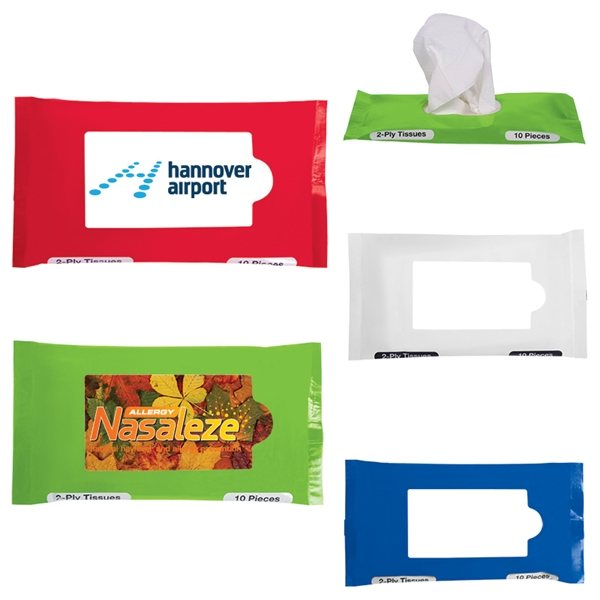 Promotional Pocket / Travel Facial Tissues